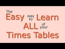 how to teach times tables times tables easy way to learn all the times tables youtube