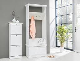 schuhschrank flur garderobenset landström 140 weiß garderobe schuhschrank flur diele