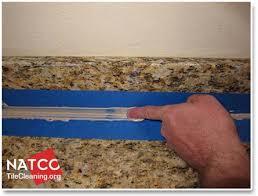 professional recaulking procedure for granite countertops