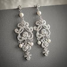vintage wedding earrings chandeliers etsy shop glamorousbijoux vintage inspired pearl bridal