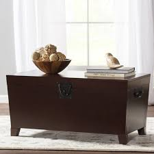 storage trunk coffee table charlton home bischoptree storage trunk coffee table reviews wayfair