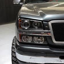 2005 chevy silverado 2500hd tail lights chevy silverado 2500hd 2003 2006 black halo projector headlights and