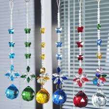 5 pcs clear lead crystal ball prisms christmas ornaments wedding