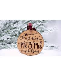 fall sale our first christmas ornament married personalized