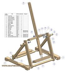 how to make a simple table top easel h frame folding tabletop easel plan