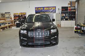 matte grey jeep jeep grand cherokee u2013 matte black racing stripes red pinstripes