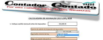 calculadora de salario diario integrado 2016 calculadora de aguinaldo contador contado