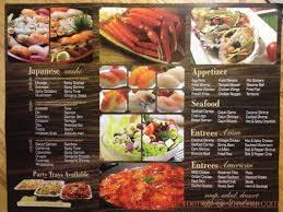 Kome Japanese Seafood Buffet by Online Menu Of Kami Buffet U0026 Grill Restaurant Rosemead