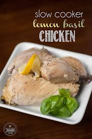 Chicken Main Dish - slow cooker lemon basil whole chicken self proclaimed foodie