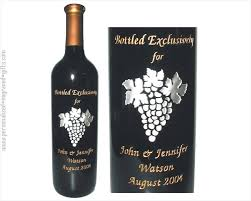 wine bottle engraving engraved wine bottles for anniversaries weddings