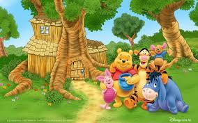 home of winnie the pooh cartoon for children photo desktop hd