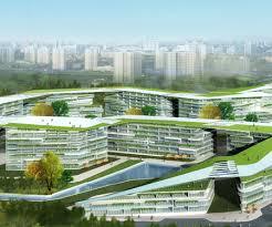 building concept landscape building river frontage green building concept