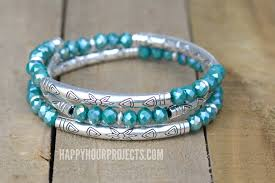 diy crystal bead bracelet images Crystal tube bead diy memory wire bracelet happy hour projects jpg