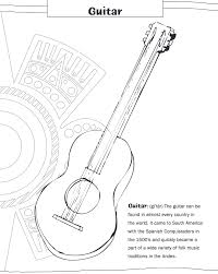 large guitar coloring page adult feliz navidad coloring pages feliz navidad coloring pages kids