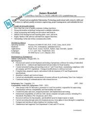 Agile Resume Stunning Embedded Control Systems Tester Cover Letter Images