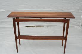 hand made walnut sofa table by wood in motion custommade com