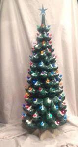 vintage ceramic christmas tree ceramic christmas tree lights vintage new ebay