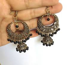 metal earings traditional metal earrings dangle style navratri special