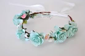 frozen headband frozen flower crown blue floral crown headband
