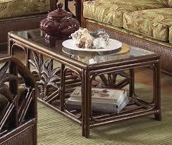 cancun palm end table cheap cancun palm rattan wicker coffee table w glass https