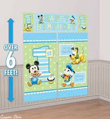 mickey mouse baby birthday decorations image inspiration of cake