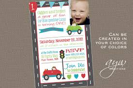 Birthday Invitation Cards For Kids First Birthday Cars 1st Birthday Invitation First Birthday Cars Invitation