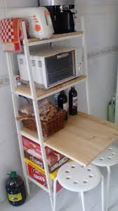 lerberg as kitchen storage and mini breakfast bar ikea hackers