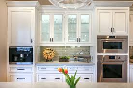 glass cabinets in white kitchen different types of kitchen cabinets