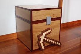 Build A Wood Toy Chest by Minecraft Pickaxe Real Wood How To Build Minecraft Toys To Kids