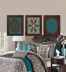 brown and turquoise bedroom wall decor turquoise and brown wall decor bed yellow pinterest