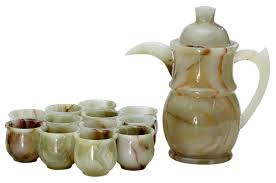 tea cup set radicaln handmade turkish style marble green onyx tea cup set