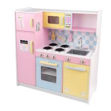 Pretend Kitchen Furniture Large Pastel Play Kitchen