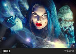 beautiful halloween vampire woman portrait beauty angry