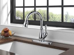 delta stainless steel kitchen faucet stainless steel wide spread delta leland kitchen faucet single