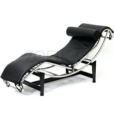 Le Corbusier Style Chaise Lounge Chair In Leather Multiple Colors