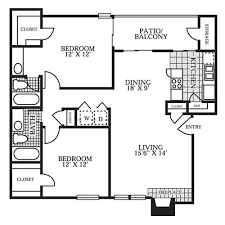 Two Bed Two Bath Floor Plans Floor Plans Parks At Treepoint Apartments In Arlington Tx
