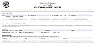 Burger King Job Description Resume by Burger King Application Online Form U0026 Job Interview Tips