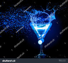colourful cocktail on black background party stock photo 232640488