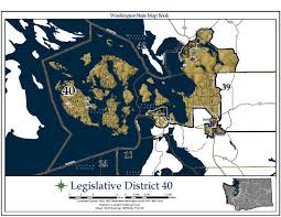 Bellingham Washington Map by Washington U0027s 40th Legislative District Wikipedia
