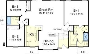 3 bedroom ranch floor plans basic ranch house plans open 3 bedroom ranch house plans with