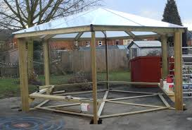 8 Sided Wooden Gazebo by Outdoor Gazebo Structure Outdoor Places Classic Gazebo