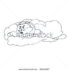 cloudfigure image gloomy clouds sketch ink stock vector 286183067