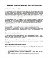 10 letter of recommendation samples sample letters word