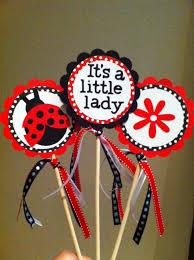 ladybug shower invitations 3 centerpiece sticks ladybug personalized by sosweetpartyshop