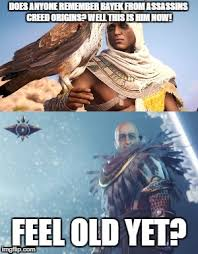 Funny Assassins Creed Memes - assassins creed bayek 1000 years later becomes osiris imgflip