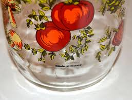 1970s set 2 glass kitchen canister jars france from