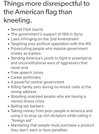 Flags And Things Things More Disrespectful To The American Flag Than Kneeling