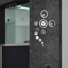 appealing contemporary glass wall clock 132 acctim contemporary