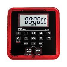 countdown timer clock count up digital sper scientific