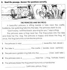 worksheet elementary reading prehension test wosenly free best